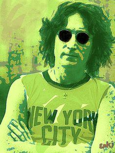 Lennon Green Nyc by Enki Art Portrait Art, Portraits, John Lennon, Rollers, Rock Bands, Rock N Roll, Musicians, Legends, Wall Art