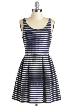 Sweetly Scalloped Dress in Navy