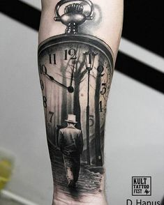 56 Likes 1 Comments Tattoo 038 Piercing unc Clock Tattoo Design, Tatoo Designs, Tattoo Sleeve Designs, Sleeve Tattoos, Forarm Tattoos, Time Tattoos, Body Art Tattoos, Clock Tattoos, Tattoo Art