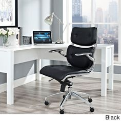 The Modway Push mid backed office chair is both stylish and practical. Its padded armrests, and the sleek sheen of the five dual-caster base, complete Push's stunning design.