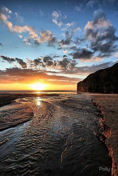 Sunset on Strand River, Ballybunion,  Ireland by janet