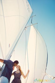 SANTA BARBARA, CA – Summer love on the water #boating #sailboat #engagement session