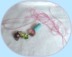 Blythe doll pink colour pull charms cord* 2 meter* new*