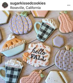 Sugar cookie heaven with these sweet fall cookies! Sugar cookie heaven with these sweet fall cookies! Thanksgiving Cookies, Fall Cookies, Iced Cookies, Cute Cookies, Holiday Cookies, Cupcake Cookies, Summer Cookies, Cookie Favors, Flower Cookies