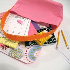 School Supplies Set for your 18 doll and her by LavaFlowerDolls