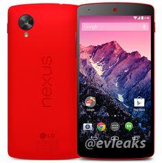 #Android Filtradas imagenes de prensa que nos muestran el Nexus 5 en color rojo. - http://droidnews.org/?p=1251