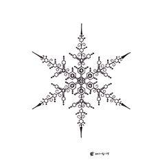 Snowflake designs Snow Tattoo, Winter Tattoo, Snow Flake Tattoo, Tatoo Henna, Henna Art, Mandala Tattoo, Tribal Tattoos, Tattoos Skull, Tatoos