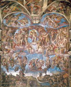 Giudizio universale  - Michelangelo (1475-1564) - STAMPA SU TELA € 31,08
