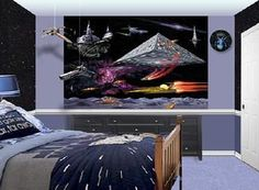 Star Wars Room Painting Ideas | STAR WARS THEMED MURAL