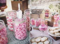 Sweet Candy Table!  Blush Rustic & Vintage Wedding    melissa fuller photography
