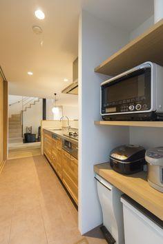 Kitchen Organization, Kitchen Storage, Hawaii Homes, Japanese House, Kitchen Interior, New Homes, Kitchen Appliances, Layout, Dining