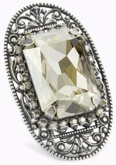 "Liz Palacios ""Piedras"" Swarovski Elements Crystal Bar Ring at ShopStyle"