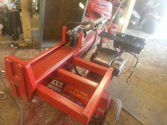 modified huskee 22 ton wood splitter Log Splitter, Fire Wood, Wood Cutting, Tractor, Home Projects, Garage, Board, Shop, Diy