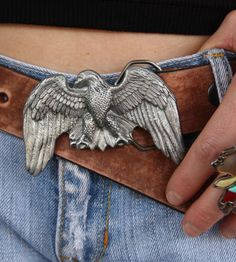 retro EaGLE buckle. bad to the bone.