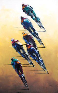 Artist: Harold Braul Bicycle Illustration, Graphic Design Illustration, Illustration Art, Bicycle Tattoo, Bicycle Art, Bike Poster, Bike Style, Cycling Art, Sketch Design