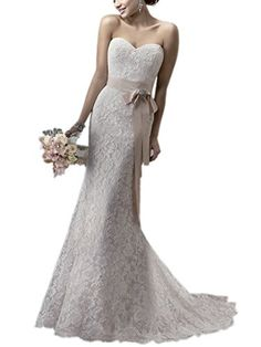 Gasoldress Bridal Strapless Lace Sexy 2016 Garden wedding dress for Bride  GownIvory us10   Want to 5c66550c8