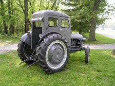 """1939 Ford model the cab is an aftermarket """"Bruco Cab"""" made by the Brumbaugh Body Co. Altoona Pennsylvania-shows back of cab Old Ford Trucks, Lifted Chevy Trucks, Ford Tractors, Pickup Trucks, Pink Tractor, Tractor Cabs, Antique Tractors, Vintage Tractors, Vintage Farm"""
