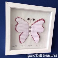 New frame  3D butterfly frame £9 at the moment on Etsy  www.etsy.com/shop/laurabelltreasures