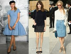 Diane Kruger, Alexa Chung, and Poppy Delevigne all in Chanel - Front Row @ Chanel Fall 2012 Couture 3