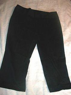 Mixit Black Sateen capri pants size 14 Fabulous Find! It's on my mind & it's on @eBay. #Pants #Fashion #Deal http://r.ebay.com/dJLvQN