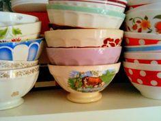 Vintage Cafe au lait bowls