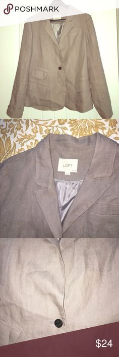 Ann Taylor LOFT Grey/Taupe Blazer ☁️ size 10P Ann Taylor LOFT Grey/Taupe Single Button Blazer ☁️ size 10P ☁️   Needs to be ironed but like NEW condition! LOFT Jackets & Coats Blazers