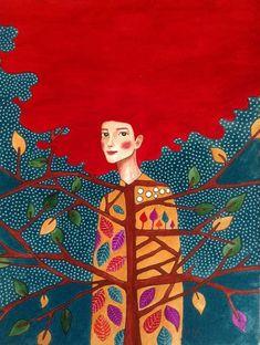 Risultati immagini per Hülya Özdemir Art And Illustration, Watercolor Illustration, Painting Inspiration, Art Inspo, Arte Popular, Art Plastique, Portrait Art, Portraits, Art Forms