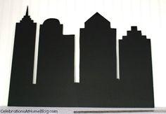 DIY :: Make a Cityscape Backdrop - Celebrations at Home
