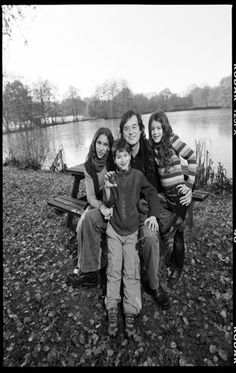 Jimmy Page and his 3 children he has with Jimena