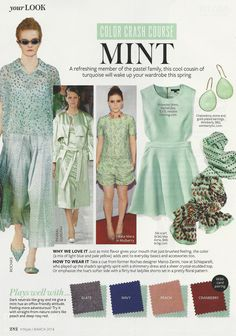 Color Crash Course: Mint #instyle