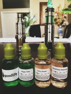 Great lineup of juice: Magic Fairy, Juicy Joose and Breathless Mahoney from Goodlife Vapor