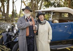 Cameo alert! Keep an eye out for Phryne Fisher author Kerry Greenwood and her partner David during tomorrow night's episode of Miss Fisher's Murder Mysteries (Friday 8.30pm on ABC1) #MissFisher #PhryneFisher #KerryGreenwood #behindthescenes