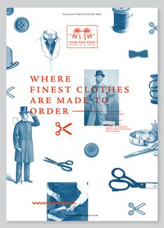 Club Man Shop poster, by Calvin Tan Web Design, Book Design, Layout Design, Design Art, Print Design, Graphic Design Posters, Graphic Design Typography, Graphic Design Illustration, Graphic Design Inspiration