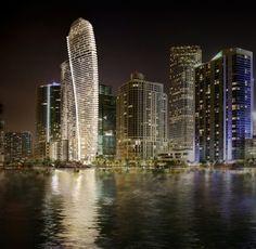 Luxury Condo, Luxury Apartments, Luxury Homes, Miami Architecture, Residential Architecture, New Aston Martin, Penthouse For Sale, Rem Koolhaas, Downtown Miami