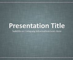 Linen Gray PowerPoint template #free #background slide design #MicrosoftPowerPoint 2007 and 2010