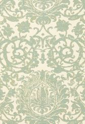 Fabric | Arezzo Linen Damask in Aquamarine | Schumacher