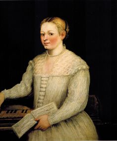 Self portrait with madrigal 1580 Marietta Comin Robusti