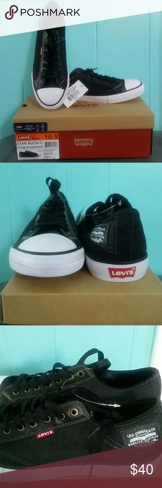 "NIB Men's Levi's Stan Buck C ""It's not a chuck, it's Levi's"" :) Kick up your style to the next level in this black denim (men's) sneakers with comfort tech sole. Summer staple. Levi's Shoes Sneakers"