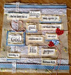 Fabric collage - Het Olijke Huis - made by Nicolene Scott