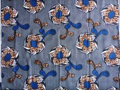 tissu wax africain *motif grandes fleurs * par 0,50m