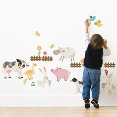 Farm Animals Wall Sticker for kids #SimpleShapes