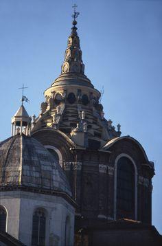 Guarino Guarini. Capilla del Santo Sudario, Turín. Exterior de la cúpula.