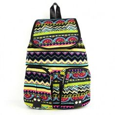 Women Vintage Casual Canvas Sports School Bag Backpack
