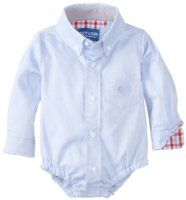 Andy & Evan Baby-Boys Newborn Oxford Shirtzie, Blue, 3-6 Months