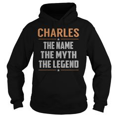 CHARLES The Myth, Legend - Last Name, Surname T-Shirt