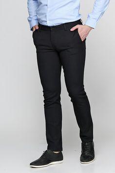25c5685206a0c3 Чоловічі штани чорного кольору MAKSYMIV Н-015. Тканина: 33% віскоза 62%