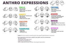 Resultado de imagem para furry expressions