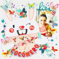 By Lisa Fonseca, for Spiegel Mom Scraps My Scrapbook, Scrapbook Layouts, Scrapbooking, Crate Paper, Sparklers, Travelers Notebook, Crates, Lisa, Paper Crafts