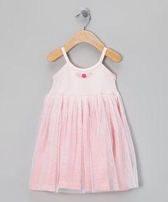 Pink Flower Tulle Dress - Infant, Toddler & Girls