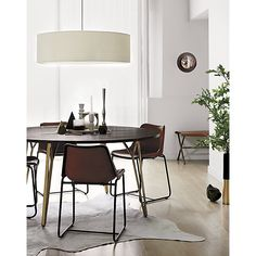 Shop oversized equator pendant light.   Way dramatic off-white cotton/poly maxi ring of micro pleats.  Matching fabric diffuser goes easy on the eyes.  White fabric cord with tandem metal cable.